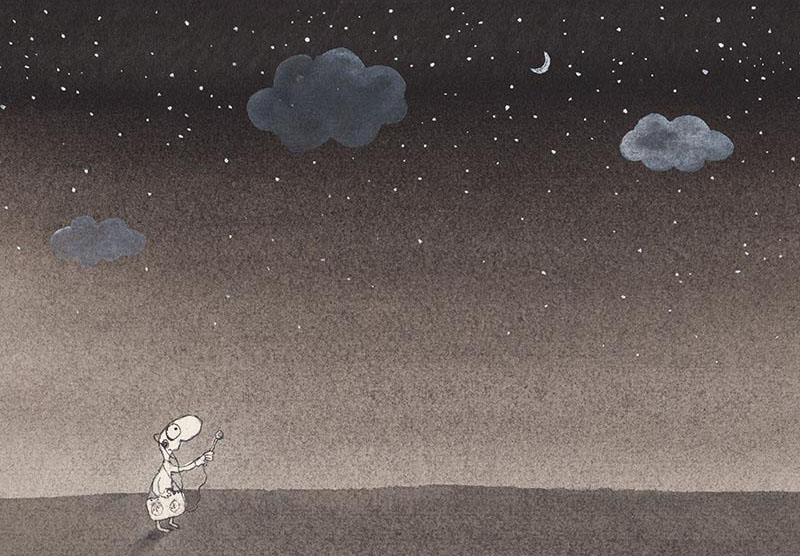 Michael Leunig, Man Interviewing the Stars